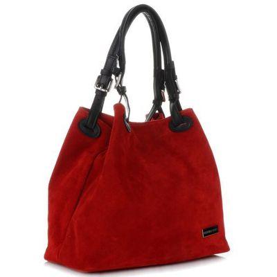 fe3bae22142e8 Vittoria gotti uniwersalne włoskie torebki skórzane na co dzień zamsz  naturalny wysokiej jakości czerwone (kolory)