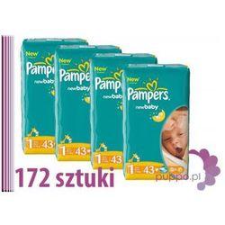 PAMPERS NewBaby Newborn 1 pieluszki 4 x 43 szt