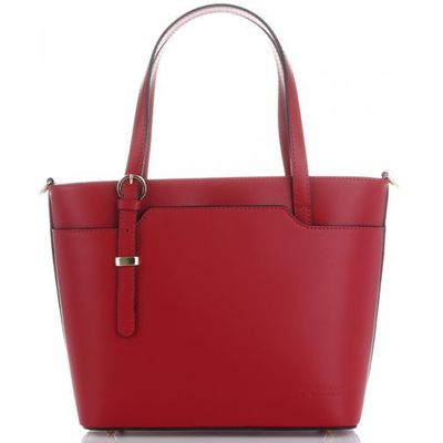 32dae29bfc8ba Eleganckie i klasyczne torebki skórzane włoskiej firmy czerwone (kolory)  marki Vittoria gotti