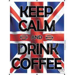 Obraz KEEP CALM AND DRINK COFFEE - FLAGA BRYTYJSKA PT161T2