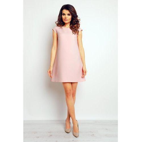 fd2762350f Różowa trapezowa elegancka sukienka marki Infinite you - ♡ Brendo.pl