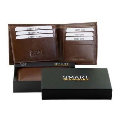 5a8ac86ead7fe Męski SLIM Portfel RFID Bezpieczne Karty Zbliżeniowe Brązowy Koruma - Brąz  połysk (5902730820024)