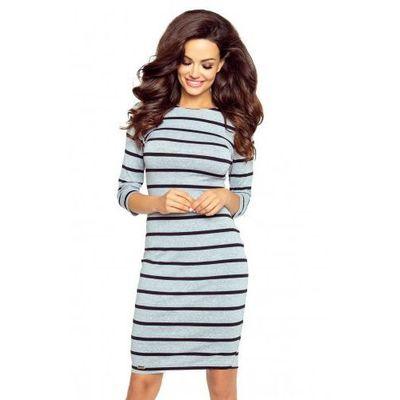 9eb68b4af3 27-12 Eleonora – sukienka z dekoltem eksponującym plecy (paski szary)