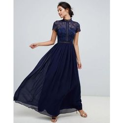 17c9800c98 2 in 1 lace top maxi dress in navy - navy marki Chi chi london