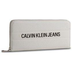 62ba676ee9f85 Calvin klein jeans Duży portfel damski - logo banner large ziparound  k40k400840 102