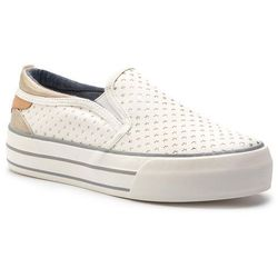 2276fb83d76e5 Tenisówki WRANGLER - Halley Slip On WL91560A White 051, kolor biały