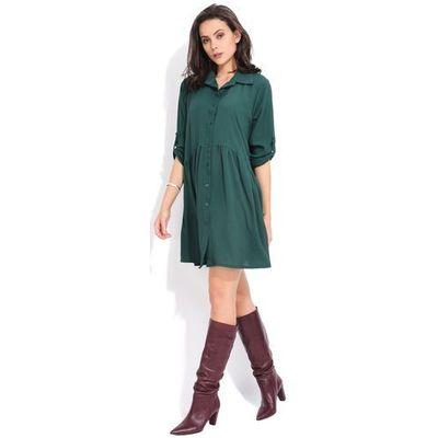 93df2f9046 Fille du couturier sukienka damska oriane 40 zielony