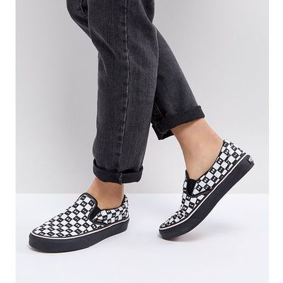 Vans X Lazy Oaf Slip On Trainers Black, kolor czarny