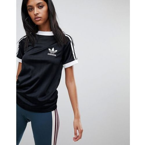 Three Stripe Black Originals In T Shirt BlackAdidas Polyknit