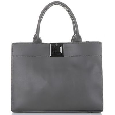 170e5242dc9de David jones Klasyczne torebki damskie kuferki szare (kolory)
