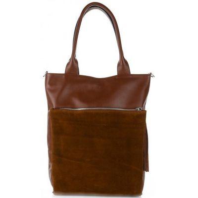 b245655a796b7 Vittoria gotti Włoskie torebki skórzane typu shopperbag xl firmy brązowe  (kolory)