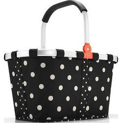 Koszyk carrybag w kropki czarny