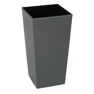 Lamela Doniczka Plastikowa 40 X 40 Cm Antracytowa Finezja 5900119825486