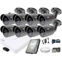 Zestawy monitoringowe, ZM11842 Zestaw do monitoringu 8 kamery IR 30m Rejestrator Hikvision FullHD Dysk 1TB