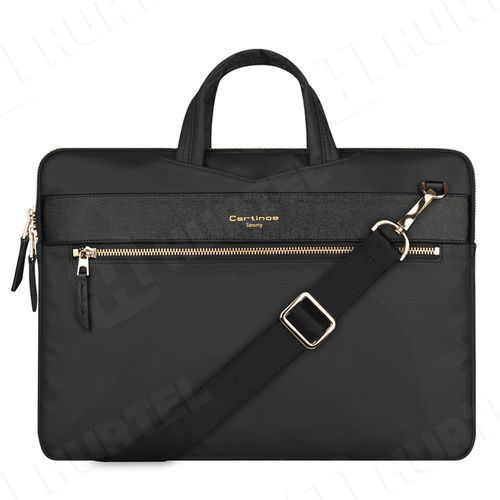 Pokrowce, torby, plecaki do notebooków, Cartinoe torba na laptopa London Style Series 13,3 cala czarna - Czarny \ 13.3
