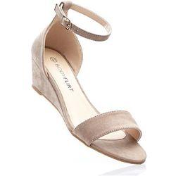 Sandały na koturnie bonprix brunatny