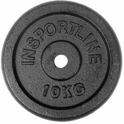 Stalowe obciążenie talerz do sztangi 30mm inSPORTLine Blacksteel 10 kg