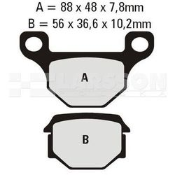 Klocki hamulcowe EBC (2 szt.) FA093 4101701 Pegasus Corona 50, Motorhispania RX