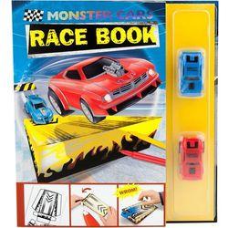 Zestaw kreatywny tor wyścigowy z dwoma samochodzikami Monster Cars - Plus-Z