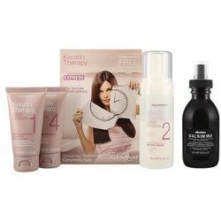 Alfaparf Keratin Therapy Smoothing Treatment Kit and OI All in One Milk | Zestaw do wygładzenia i odżywienia włosów: zestaw do keratynowego prostowania + mleczko 135ml