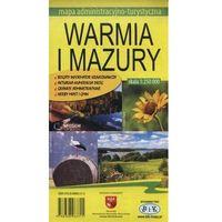 Mapy i atlasy turystyczne, Województwo Warmińsko-Mazurskie. Mapa turystyczno-administracyjna (opr. miękka)