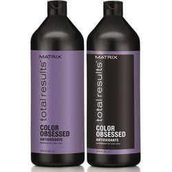 Matrix Total Results Color Obsessed Zestaw do włosów farbowanych | szampon 1000ml + odżywka 1000ml