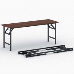 Stół konferencyjny FAST READY z czarnym stelażem, 1700 x 500 x 750 mm, czereśnia