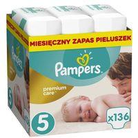 Pieluchy jednorazowe, PAMPERS Premium Care 5 JUNIOR 136 szt. (11-18 kg) ZAPAS NA MIESIĄC - pieluchy jednorazowe