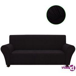 vidaXL Elastyczny pokrowiec na sofę, z dżerseju, czarny Darmowa wysyłka i zwroty
