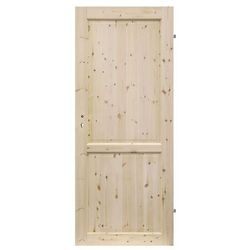 Drzwi pełne Radex Lugano 80 prawe sosna surowa