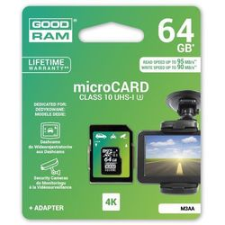 Karta pamięci MicroSDHC GOODRAM 64GB MLC U3 UHS I + adapter 95/90 MB/s