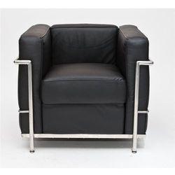 Fotel Kubik czarna skóra TP - czarny