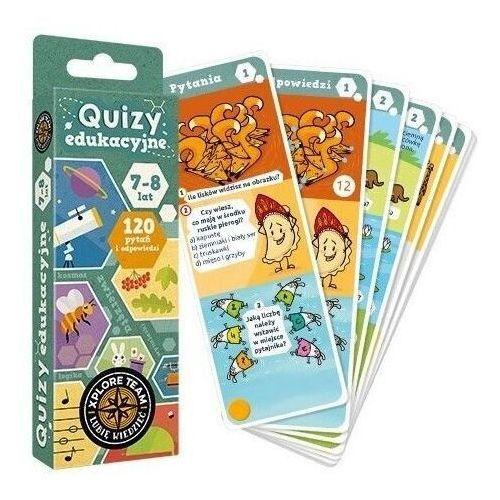Literatura młodzieżowa, Xplore Team Quizy edukacyjne 7-8 lat. Darmowy odbiór w niemal 100 księgarniach! (opr. kartonowa)