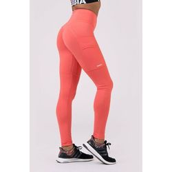 NEBBIA Legginsy damskie High waist Fit&Smart Peach