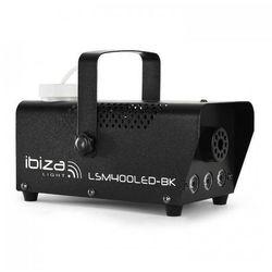 Maszyna do mgły Ibiza LSM400LED-WH mini amber LED czarna