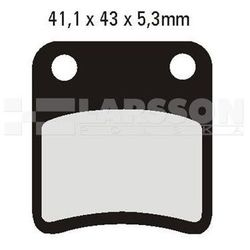 Klocki hamulcowe EBC (2 szt.) SFA257/2 4102115 Piaggio/Vespa MP3, Honda FJS 600