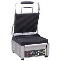 Grille gastronomiczne, Grill kontaktowy żeliwny pojedyńczy ryflowany | 245x230mm | 2000W