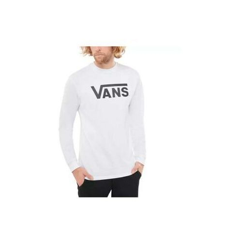 Koszulki z długim rękawem, koszulka VANS - Mn Vans Classic Ls White/Black (YB2) rozmiar: XL
