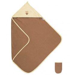 Brązowe okrycie kąpielowe 85x85 ręcznik z kapturkiem Frotte