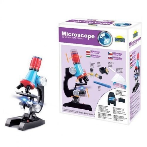 Pozostałe zabawki edukacyjne, Mikroskop 100x, 400x, 1200x