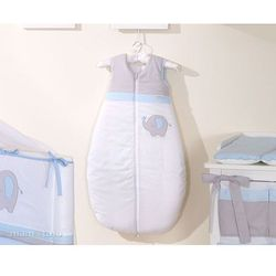 MAMO-TATO Śpiworek do 18 m-ca haftowany Słonik błękitny