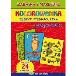 Kolorowanka Zeszyt siedmiolatka Łamigłówki - Beata Guzowska, Kamila Pawlicka