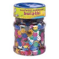 Kreatywne dla dzieci, Confetti cekinowe kwiatki mix kolorów 100g ASTRA