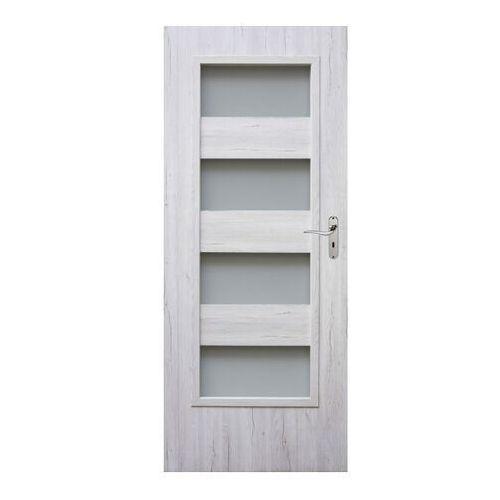 Drzwi wewnętrzne, Drzwi pokojowe Winfloor Kastel 90 lewe dąb silver