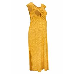 Długa sukienka ciążowa i do karmienia TENCEL™ Lyocell bonprix żółty w kwiaty