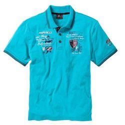 Shirt polo Regular Fit bonprix turkusowy