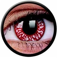 Soczewki kontaktowe, Soczewki kolorowe czerwone BLOOD SHOT Crazy Lens 2 szt.