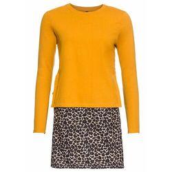 Sukienka ze sznurowaniem z boku, w optyce 2 w 1 bonprix żółty - leo
