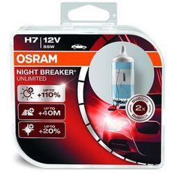 Osram Night Breaker Unlimited HCB H7 REFLEKTOR przedni, 64210 NBU, 12 V, duobox, Night Breaker Unlimited, twarda osłona – podwójne opakowanie, biały
