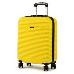Mała Twarda Walizka OCHNIK - WALAB-0040-19 Żółty